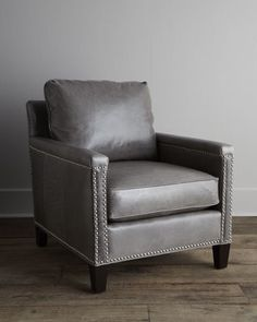 """""""Gordon"""" Leather Chair at Horchow."""