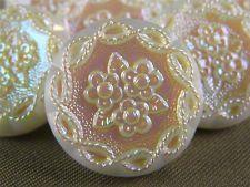 """Vintage Gorgeous Glass Buttons - ( 12 pcs ) - 18mm - 3/4"""" - 0245"""