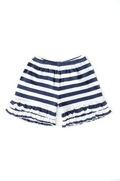 Our Navy & White Striped Shorts are the perfect match for our Patriotic Collection.   100% Cotton Imported Relaxed fit / Stretchy Material Durable Navy and White shorts with ruffled details  Please check measurements before ordering. All sales are final, no returns or exchanges. Free shipping on all U.S. orders.  https://adorableessentials.com/collections/shorts/products/navy-white-striped-shorts
