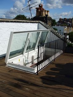 Surespan Glazed Access Hatch. The large structural opening is perfect for a set of stairs for easy access onto a roof terrace.