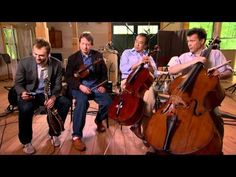 Gotta check this out!   Title - Goat Rodeo Sessions  Featuring - Yo-Yo Ma, Chris Thile, Edgar Meyer, and Stuart Duncan