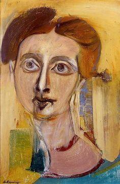 Willem De Kooning, donna (ritratto di eliane), 1942. Olio su tavola, 53.3 x 35.6 cm, collezione particolare