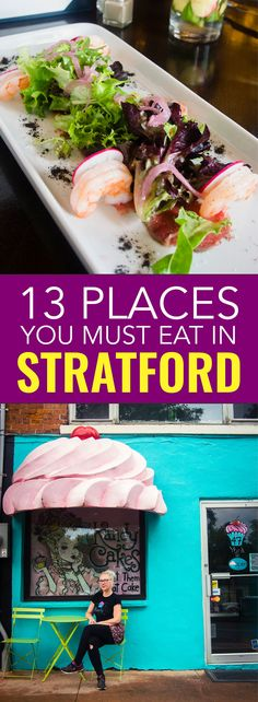 Stratford isn't just a theatre town, a new generation of chefs are shaking things up. Check out the best places to eat in Stratford Ontario. Canadian Cuisine, Canadian Food, Fun Places To Go, Best Places To Eat, Moving To Canada, Canada Travel, Stratford Ontario, Travel Tips, Travel Destinations