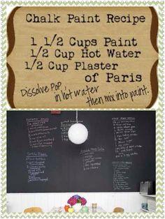 Homemade chalkboard paint recipe