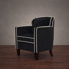 Broadway / Cream Velvet Arm Chair ($245) ❤ liked on Polyvore