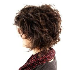 short shag wavy messy curls