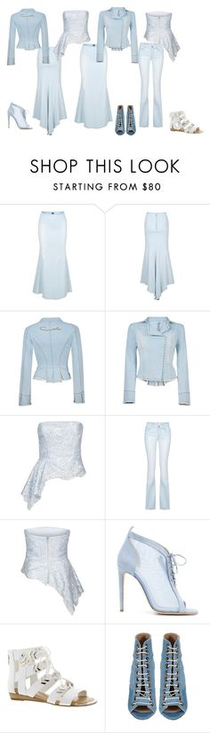 """Denim and Lace, Carla Zampatti"" by freida-adams ❤ liked on Polyvore featuring Carla Zampatti, Chloe Gosselin, Fergie and Barbara Bui"