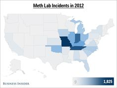 Map Here S Where Most Of America S Meth Labs Are Found
