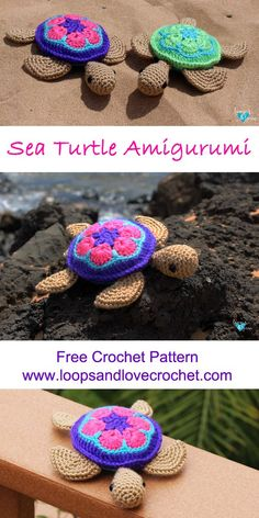 Sea Turtle Amigurumi - Free crochet pattern by Loops & Love Crochet #seaturtle #crochetturtle #amigurumi #freecrochetpattern #loopsandlovecrochet #crochet