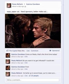 Lol haha funny pics / pictures / Hunger Games Humor / Facebook