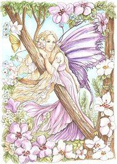 Morgan Fitzsimons Featured Images - Fairy In The Flowers by Morgan Fitzsimons