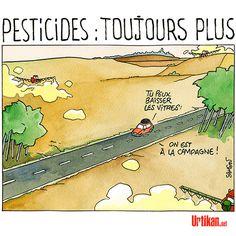 Une carte de France des victimes des pesticides - Dessin du jour - Urtikan.net
