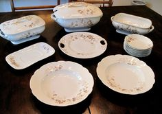 Vintage T. & V. TRESSEMANES & VOGT LIMOGES FRANCE PORCELAIN 15 Piece DINNER SET http://www.thesecondhandplanet.com/
