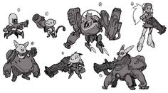 Hammond Early Ideas from Overwatch #illustration #artwork #gaming #videogames #gamer