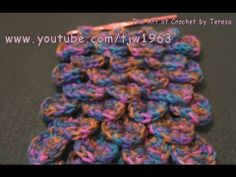 Crochet Geek - How to make the Crochet Crocodile Scale Stitch