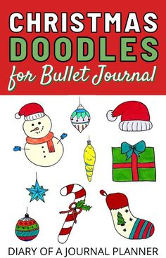 Spread holiday cheer through your bullet journal with the cutest Christmas bullet journal doodlesto copy! #christmas #christmasdoodles #doodles #howtodraw #christmasbulletjournal Easy Doodles Drawings, Easy Doodle Art, Cool Doodles, Doodle Ideas, Simple Doodles, My Doodle, Bullet Journal And Diary, Bullet Journal Printables, Bullet Journal Layout