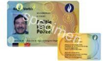 police belge logo - Carte de légitimation.