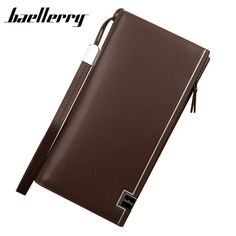 178647d78424d Baellerry arrival leather men wallets quality PU long clutch fashion  designer card holders business handbags clips purse pocket-in Wallets from  Luggage ...