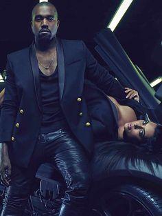 campagnes publicitaires printemps ete 2015 Kim Kardashian et Kayne West chez Balmain homme.