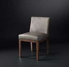Morgan Track Arm Leather Side Chair  rhmoern