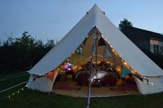 Interior shot as night starts to fall Glampit wedding bell tent. Interior shot as night starts to fall Go Glamping, Tent Camping, Camping Hacks, Family Tent, Family Camping, Outdoor Rooms, Outdoor Gear, Tent Living, Lightweight Tent