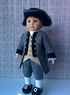Would love to see Logan in historical outfits. Might add him to my wish list to use as Eddie Would love to see Logan in historical outfits. Might add him to my wish list to use as Eddie Boy Doll Clothes, Doll Clothes Patterns, Girl Clothing, Doll Patterns, Sewing Patterns, American Boy Doll, American Doll Clothes, 18 Inch Boy Doll, American Girl Felicity