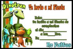 Invitacion de Dinotren | Tarjetas de cumpleaños para ...