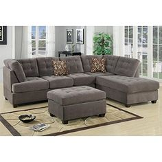 Broyhill Sofa Found it at Wayfair Aedesia Piece Waffle Suede Sectional Sofa with Square Stitching Pattern