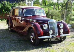 Riley RMD drophead coupe, Regency red with tan leather For Sale (1951)