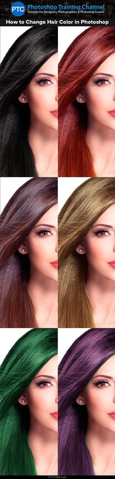 In this tutorial I'm going to show you how to change hair color in Photoshop. Including Black Hair to Blonde Hair. #Photoshop #PTCvids