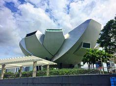 The fascinating ArtScience museum was in Singapore #sg #artsciencemuseum #travelgram #architecture #latergram #wanderlust #vscocam #vscotravel #mbs #marinabaysands