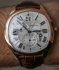 Watch Review Up Now: Cartier Drive De Cartier 'Small Complication' Gold Watch Review - by Bilal Khan - More on this and the new Drive De Cartier collection at aBlogtoWatch.com