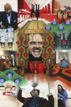 The Shining Jack Nicholson Paul Stone - Official Poster. Official Merchandise. Size: 61cm x 91.5cm. FREE SHIPPING