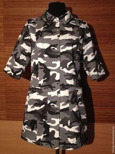 """Купить платье-рубашка """"Милитари'"""" - короткое платье, рубашка, милитари, на кнопках, хаки, Оригинальная одежда"""