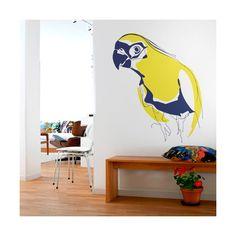 Un bonito vinilo decorativo para decorar tus paredes con un simpático loro colorista / A nice decorative vinyl to decorate your walls with a likeable and coloristic parrot. Desde 58,08€