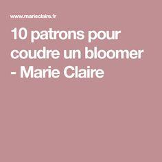 10 patrons pour coudre un bloomer - Marie Claire