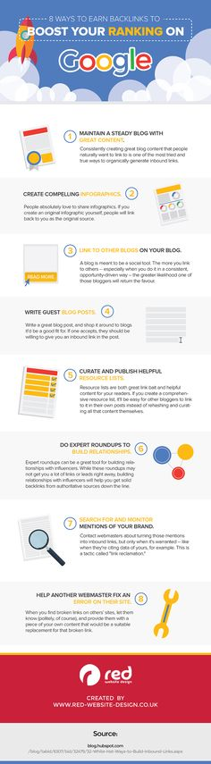 8 Ways To Earn Backlinks To Boost Your Ranking On Google - Infographic