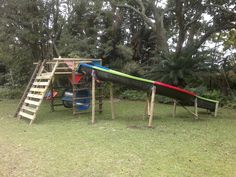 Jungle gym with Super Tube slide. Wendy House, Jungle Gym, Cool Designs, Tube, Kids, Crafts, Young Children, Boys, Manualidades
