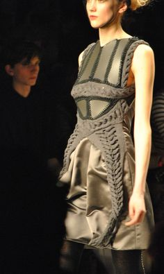 LFW: Bora Aksu's Exquisitely Structured Textures and Knits