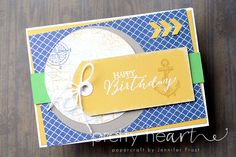 Pretty Heart, Papercraft by Jennifer Frost, Butterfly Basics, The Open Sea, Stampin' Up!