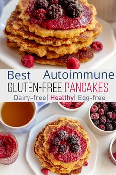 These AIP Pancakes are delicious and require only 3 main ingredients. Naturally sweetened they are an easy and filling healthy breakfast. These AIP Pancakes are also Vegan, Gluten-free, Dairy-free, and Egg-free. Egg And Grapefruit Diet, Boiled Egg Diet Plan, Dairy Free Eggs, Gluten Free Pancakes, Free Breakfast, Breakfast Ideas, Breakfast Recipes, Dinner Recipes, Foods To Eat