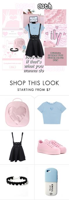 """""""Pastel (Goth)"""" by txxnage-wrxck ❤ liked on Polyvore featuring Kenzo and WithChic"""