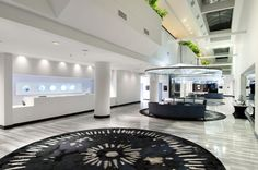 The front desk and lobby area of the Hilton Houston NASA Clear Lake.