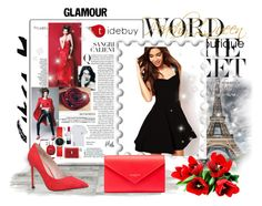 """Glamour style #1"" by suvi-297 ❤ liked on Polyvore featuring Carvela Kurt Geiger, Balenciaga, LittleBlackDress, highheels and redcolor"
