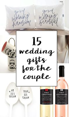 Unique and creative wedding gift ideas for the bride and groom!