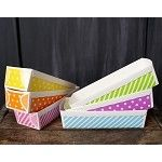 3 large rectangle paper loaf pans - available in 6 colors/designs!