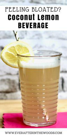 Coconut Lemon Water - Ever After in the Woods Lemon Water Benefits, Lemon Health Benefits, Warm Lemon Water, Drinking Lemon Water, Week Detox Diet, Detox Diet Drinks, Detox Diet Plan, Cleanse Diet, Stomach Cleanse