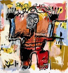 Untitled acrylic, oilstick and spray paint on canvas painting by --Jean-Michel Basquiat--, 1981