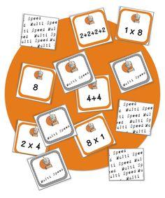 Jeux maths CE1 : Multi speed : la mutiplication