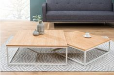 Set 2 konferenčných stolíkov MERGER - prírodná, biela Coffe Table, Ikea Hack, Decoration, Diy Furniture, My House, Sweet Home, House Design, Living Room, Inspiration